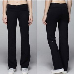 Lululemon Wide Leg Astro Black Yoga Pants